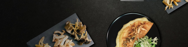 Omelette souflée aux champignons