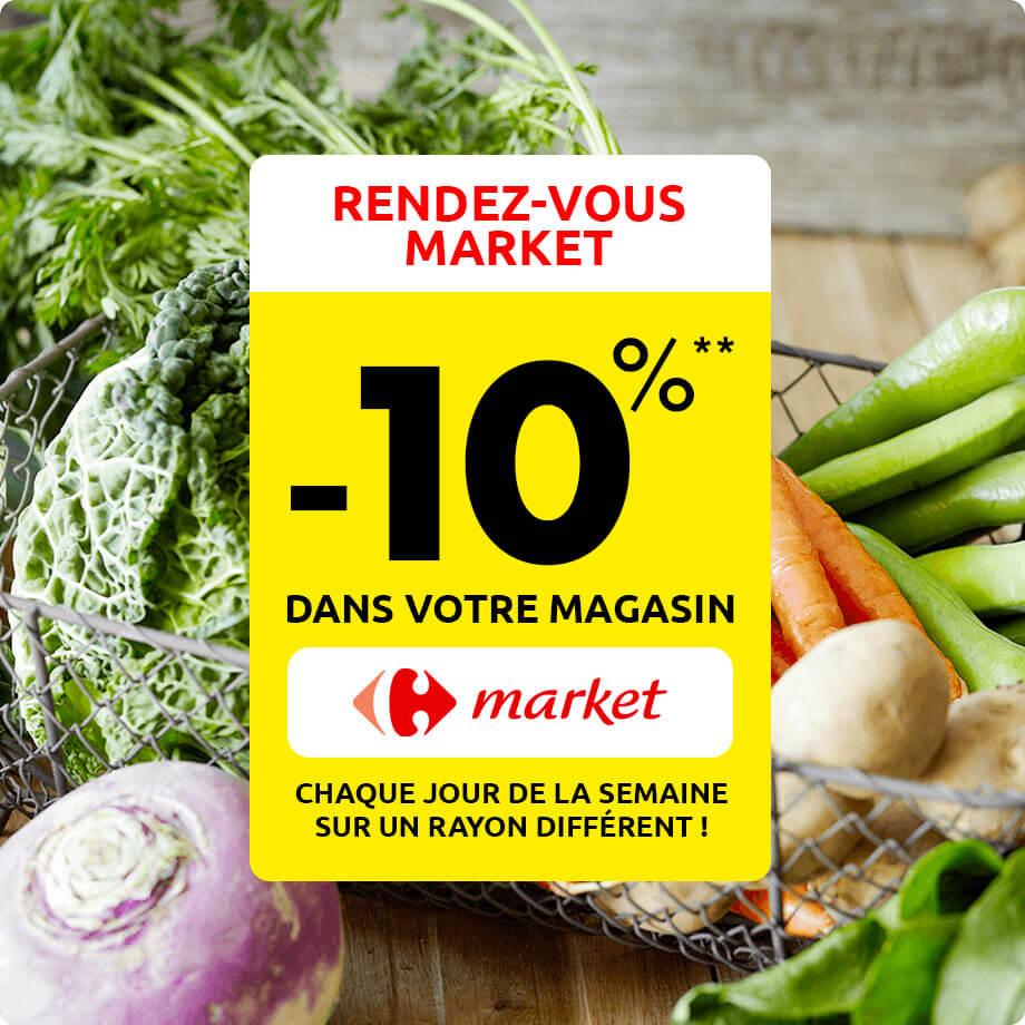 Rendez-vous dans votre magasin Carrefour Market !