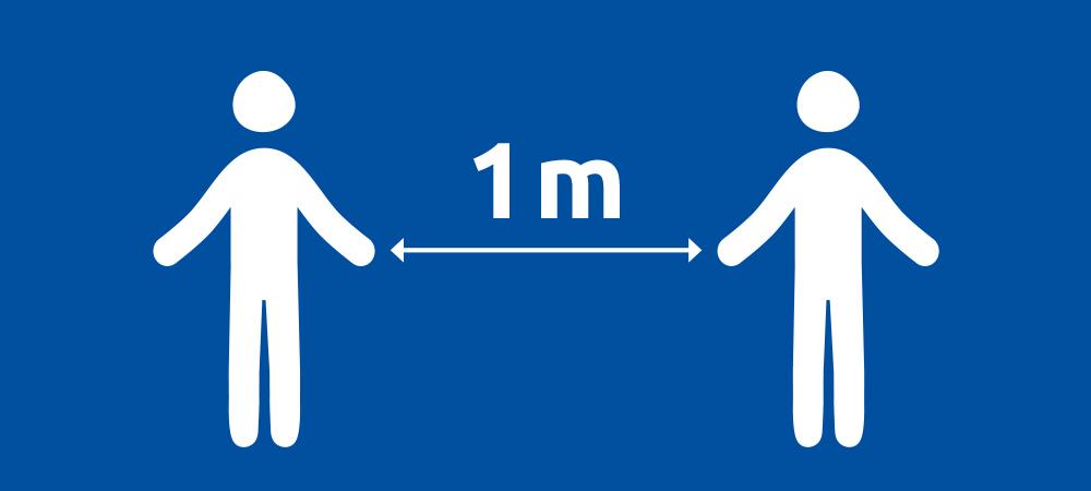 1 mètre de distance Suites aux annonces gouvernementales