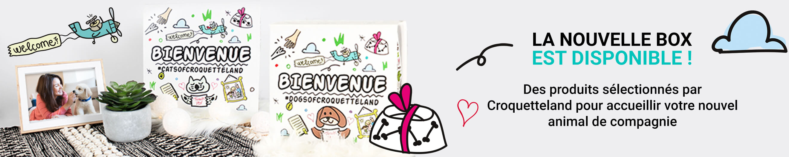 Box bienvenue croquetteland Carrefour